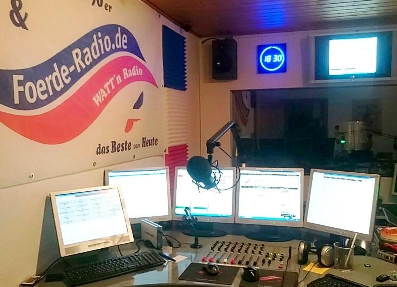 Das Studio vom Foerde-Radio