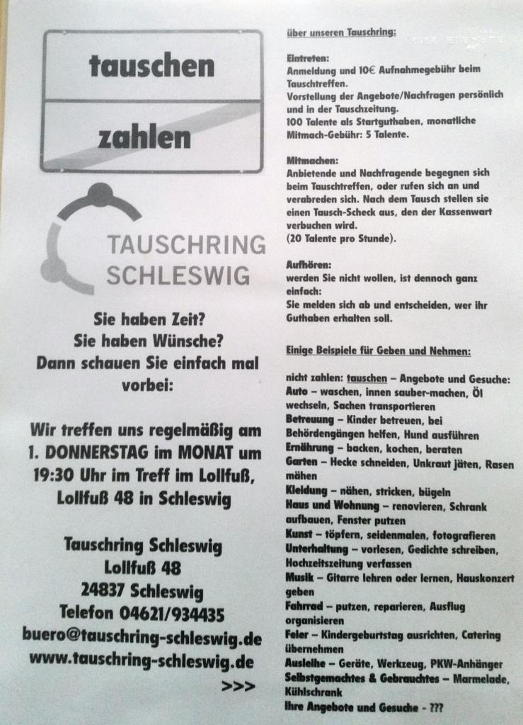 Tauschring Info
